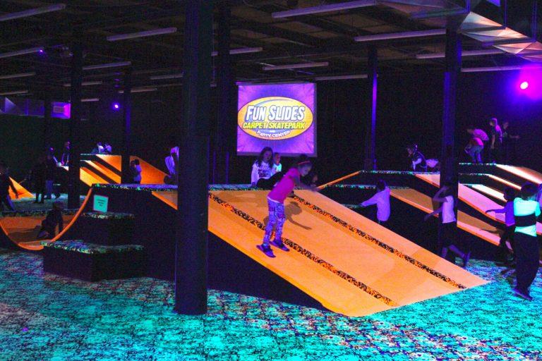 Fun Slides Park Skating Girl